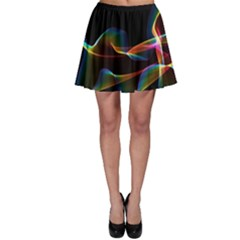Fluted Cosmic Rafluted Cosmic Rainbow, Abstract Winds Skater Skirt by DianeClancy