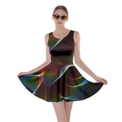 Imagine, Through The Abstract Rainbow Veil Skater Dress by DianeClancy