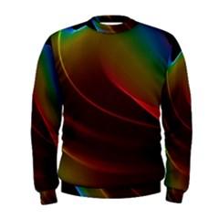 Liquid Rainbow, Abstract Wave Of Cosmic Energy  Men s Sweatshirt by DianeClancy