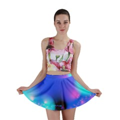 Love In Action, Pink, Purple, Blue Heartbeat 10000x7500 Mini Skirts by DianeClancy