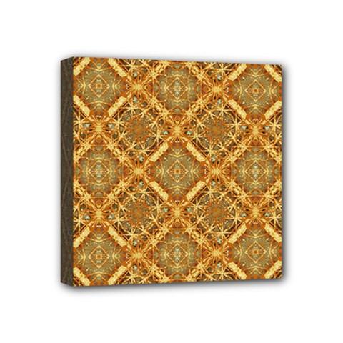 Luxury Check Ornate Pattern Mini Canvas 4  X 4  by dflcprints