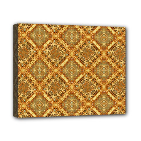 Luxury Check Ornate Pattern Canvas 10  X 8  by dflcprints