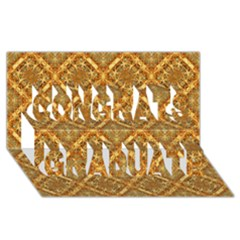 Luxury Check Ornate Pattern Congrats Graduate 3d Greeting Card (8x4)  by dflcprints