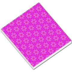 Pink Snowflakes Spinning In Winter Small Memo Pads by DianeClancy