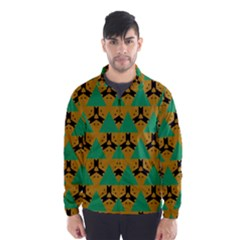 Triangles And Other Shapes Pattern        Wind Breaker (men) by LalyLauraFLM