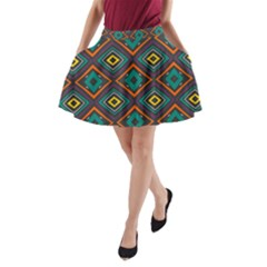 Rhombus Pattern          A Line Pocket Skirt by LalyLauraFLM