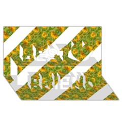Indian Floral Pattern Stripes Best Friends 3d Greeting Card (8x4)  by dflcprints