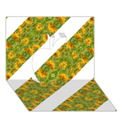 Indian Floral Pattern Stripes Apple 3d Greeting Card (7x5)  by dflcprints