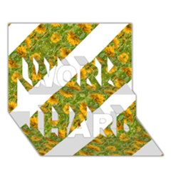 Indian Floral Pattern Stripes Work Hard 3d Greeting Card (7x5)  by dflcprints