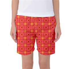 Peach Apricot Cinnamon Nutmeg Kitchen Modern Abstract Women s Basketball Shorts by DianeClancy