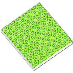 Vibrant Abstract Tropical Lime Foliage Lattice Small Memo Pads by DianeClancy