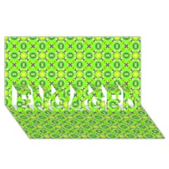 Vibrant Abstract Tropical Lime Foliage Lattice Engaged 3d Greeting Card (8x4)  by DianeClancy