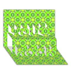 Vibrant Abstract Tropical Lime Foliage Lattice You Rock 3d Greeting Card (7x5)  by DianeClancy