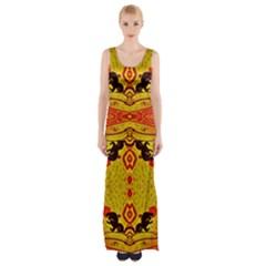 GREEN SUN Maxi Thigh Split Dress by MRTACPANS