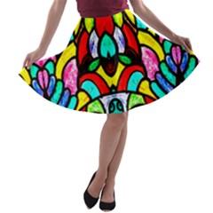 Sun Dial A-line Skater Skirt