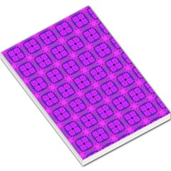 Abstract Dancing Diamonds Purple Violet Large Memo Pads by DianeClancy