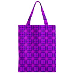 Abstract Dancing Diamonds Purple Violet Zipper Classic Tote Bag by DianeClancy