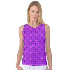 Abstract Dancing Diamonds Purple Violet Women s Basketball Tank Top by DianeClancy