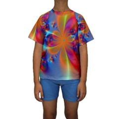 Bright Kid s Short Sleeve Swimwear by Delasel