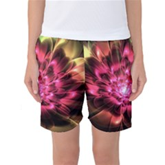 Red Peony Women s Basketball Shorts by Delasel