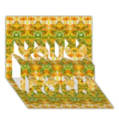 Boho Stylized Floral Stripes You Rock 3d Greeting Card (7x5)  by dflcprints