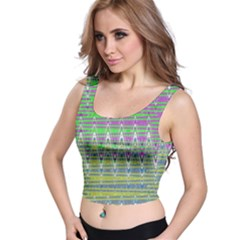 Colorful Zigzag Pattern Crop Top by BrightVibesDesign