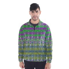Colorful Zigzag Pattern Wind Breaker (men) by BrightVibesDesign