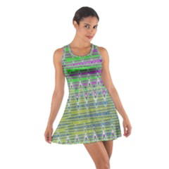 Colorful Zigzag Pattern Racerback Dresses by BrightVibesDesign