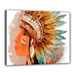 Native American Young Indian Shief Canvas 20  x 16