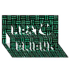 Woven1 Black Marble & Green Marble Best Friends 3d Greeting Card (8x4) by trendistuff