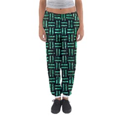 Woven1 Black Marble & Green Marble Women s Jogger Sweatpants by trendistuff