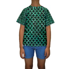 CIR3 BK-GR MARBLE Kid s Short Sleeve Swimwear by trendistuff
