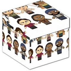 The Walking Dead   Main Characters Chibi   Amc Walking Dead   Manga Dead Storage Stool 12   by PTsImaginarium
