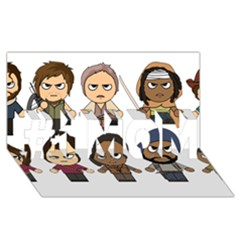 The Walking Dead   Main Characters Chibi   Amc Walking Dead   Manga Dead #1 Mom 3d Greeting Cards (8x4)  by PTsImaginarium