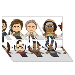 The Walking Dead   Main Characters Chibi   Amc Walking Dead   Manga Dead Believe 3d Greeting Card (8x4)  by PTsImaginarium