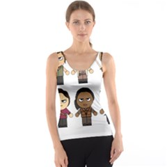 The Walking Dead   Main Characters Chibi   Amc Walking Dead   Manga Dead Tank Top by PTsImaginarium