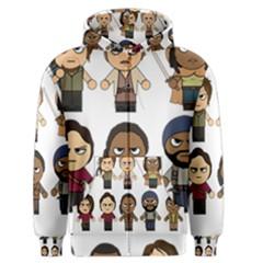 The Walking Dead   Main Characters Chibi   Amc Walking Dead   Manga Dead Men s Zipper Hoodie by PTsImaginarium