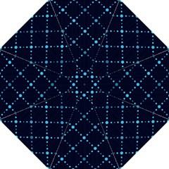Seamless Geometric Blue Dots Pattern  Hook Handle Umbrellas (large) by TastefulDesigns