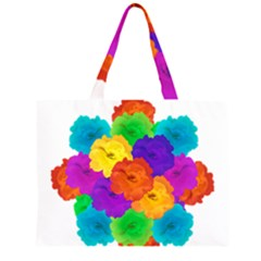 Flowes Collage Ornament Large Tote Bag
