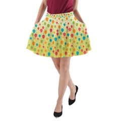 Colorful Balloons Backlground A-Line Pocket Skirt by TastefulDesigns