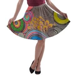 Rainbow Passion A-line Skater Skirt by SugaPlumsEmporium