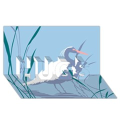 Egret Hugs 3d Greeting Card (8x4)  by WaltCurleeArt