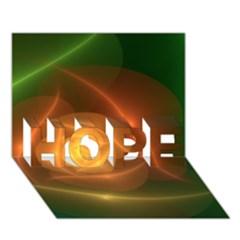 Orange Rose Hope 3d Greeting Card (7x5)  by Delasel