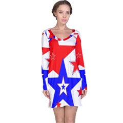 The Patriot 2 Long Sleeve Nightdress by SugaPlumsEmporium