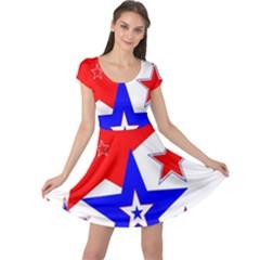 The Patriot 2 Cap Sleeve Dresses by SugaPlumsEmporium