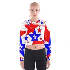 The Patriot 2 Women s Cropped Sweatshirt by SugaPlumsEmporium