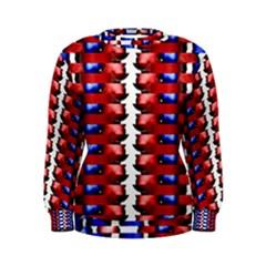 The Patriotic Flag Women s Sweatshirt by SugaPlumsEmporium
