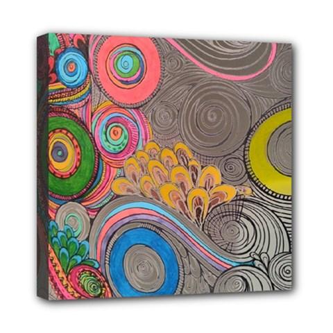 Rainbow Passion Mini Canvas 8  X 8  by SugaPlumsEmporium