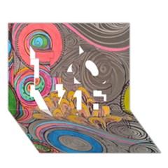 Rainbow Passion Love 3d Greeting Card (7x5)  by SugaPlumsEmporium
