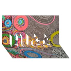 Rainbow Passion Hugs 3d Greeting Card (8x4)  by SugaPlumsEmporium